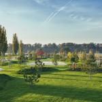 Park a záhrada hotela